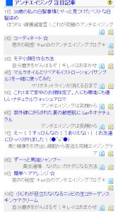 ブログ村アンチエイジング注目記事1位